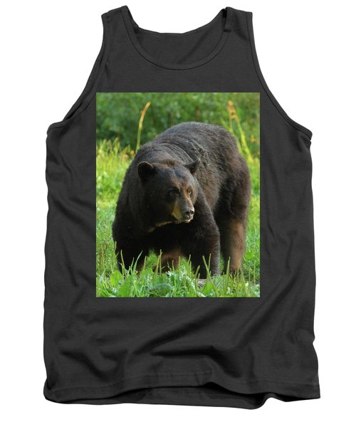 Male Black Bear In Late Light Tank Top by Coby Cooper