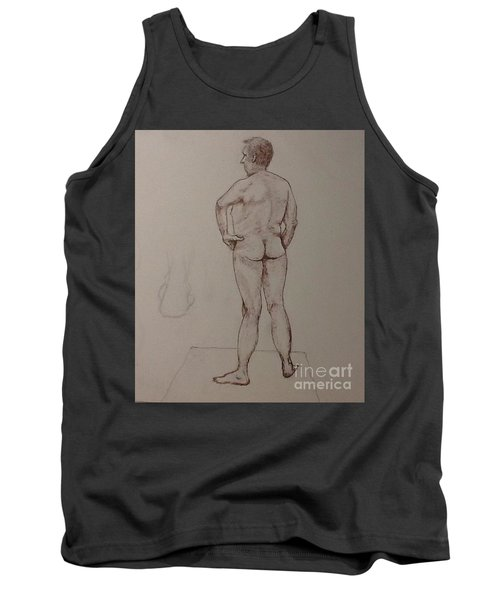 Male Life Drawing Tank Top