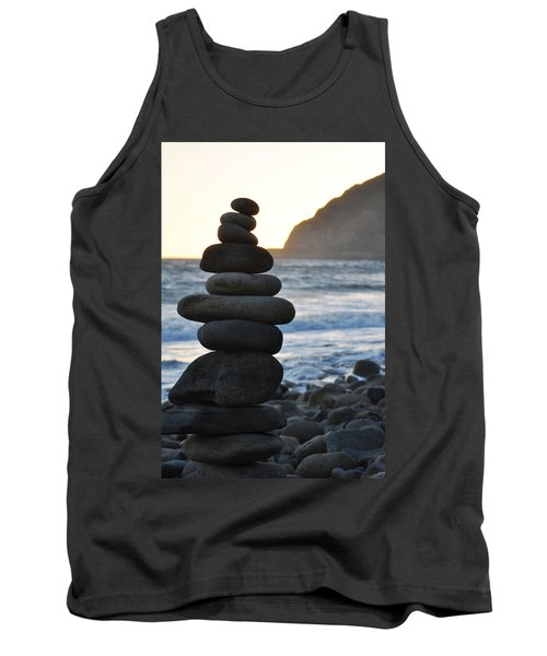 Tank Top featuring the photograph Malibu Balanced Rocks by Kyle Hanson