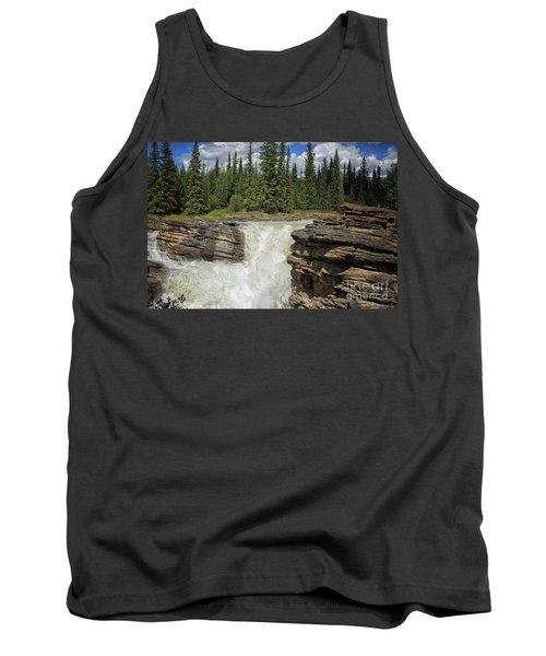 Tank Top featuring the photograph Maligne Canyon by Patricia Hofmeester