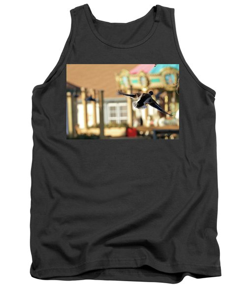 Mallard Duck And Carousel Tank Top by Geraldine Scull