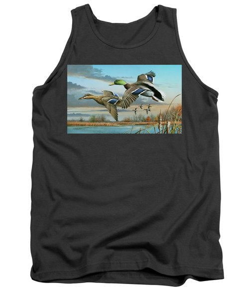 Mallards In Flight Tank Top