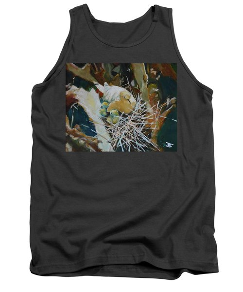 Tank Top featuring the painting Mama And Babies by Julie Todd-Cundiff