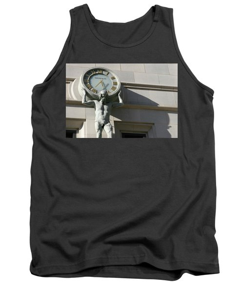 Man Holding Up Time Tank Top