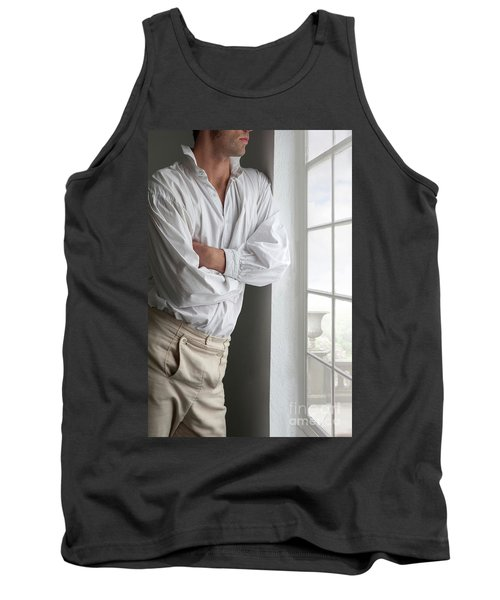 Man In Historical Shirt And Breeches Tank Top by Lee Avison