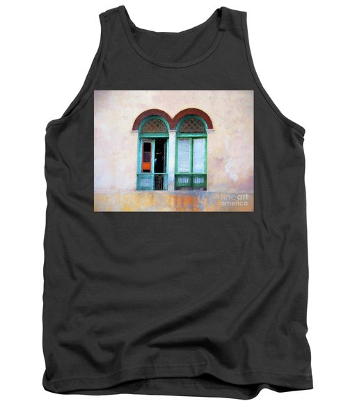 Tank Top featuring the mixed media Man In The Shadows by Jim  Hatch