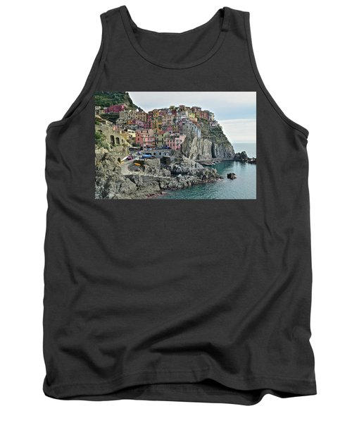 Tank Top featuring the photograph Manarola Version Three by Frozen in Time Fine Art Photography
