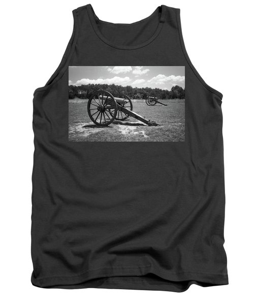 Tank Top featuring the photograph Manassas Battlefield 2 Bw by Frank Romeo