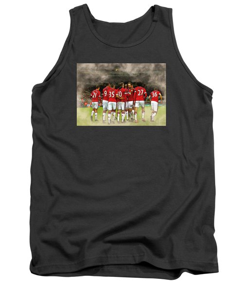 Manchester United  In Action  Tank Top by Don Kuing