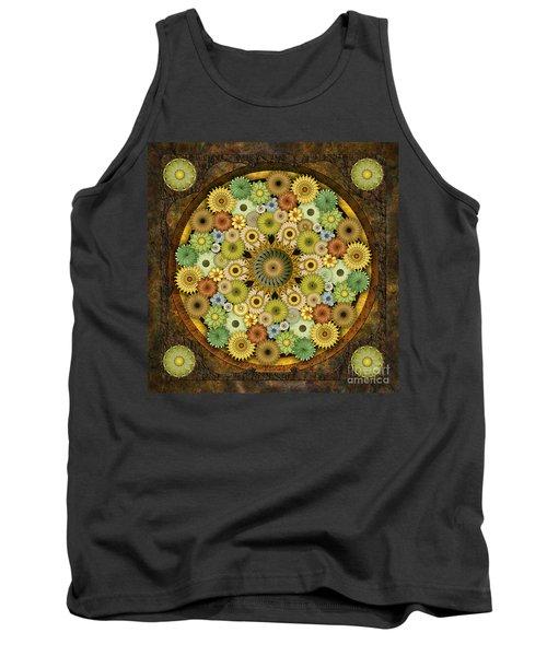 Mandala Stone Flowers Tank Top
