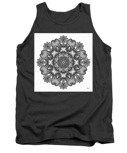Mandala To Color 2 Tank Top by Mo T