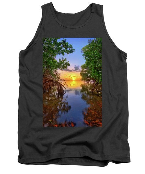 Tank Top featuring the photograph Mangrove Sunset From Jensen Beach Florida by Justin Kelefas