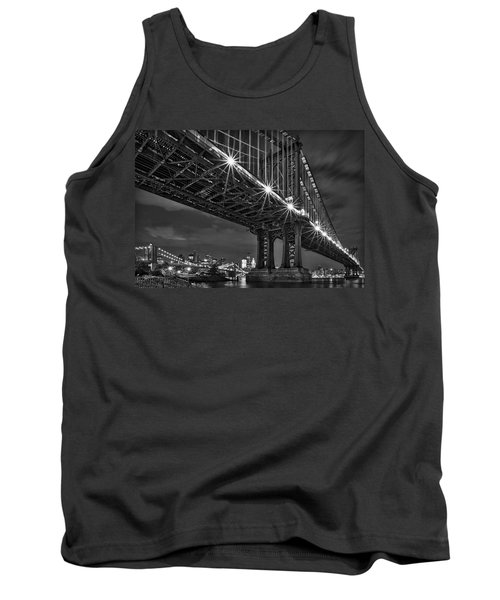 Manhattan Bridge Frames The Brooklyn Bridge Tank Top