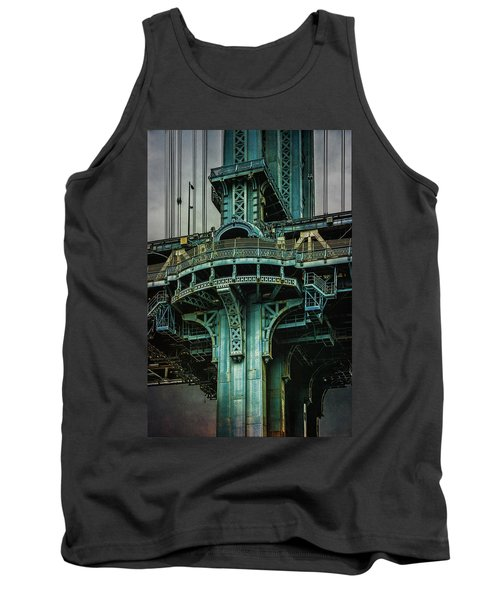 Tank Top featuring the photograph Manhattan Bridge Tower by Chris Lord