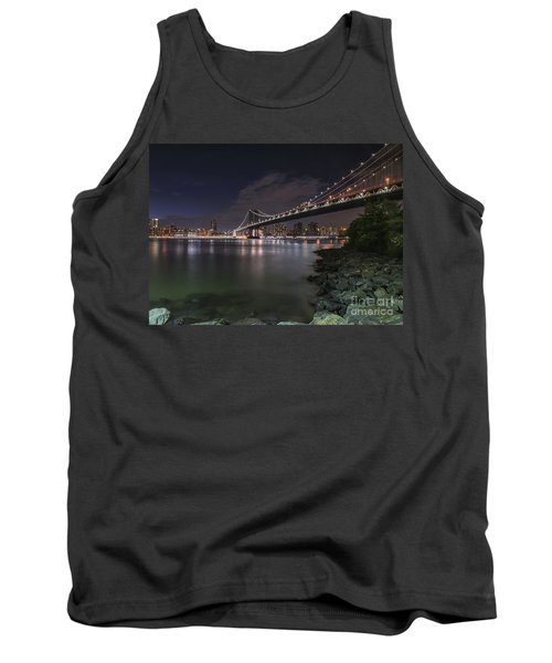 Manhattan Bridge Twinkles At Dusk Tank Top