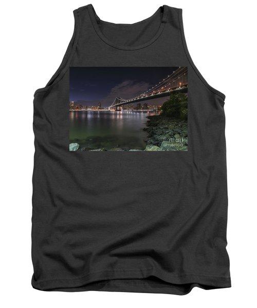 Manhattan Bridge Twinkles At Dusk Tank Top
