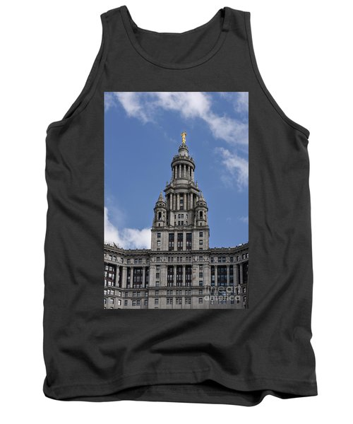 Tank Top featuring the photograph Manhattan City Hall by Judy Wolinsky
