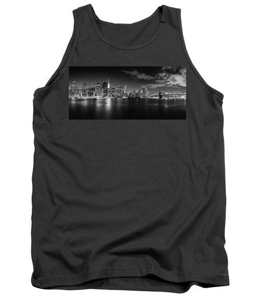Manhattan Skyline At Night Tank Top by Az Jackson