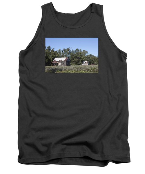 Manning Cotton Field With Barns Tank Top by Suzanne Gaff
