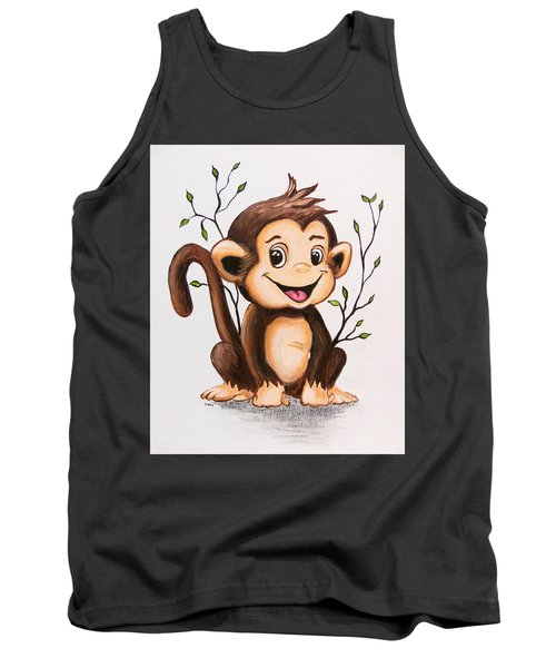 Manny The Monkey Tank Top