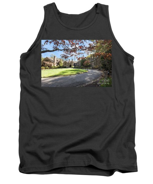 Mansion At Ridley Creek Tank Top by Judy Wolinsky