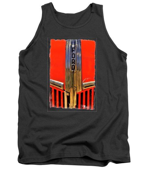 Manzanar Fire Truck Hood And Grill Detail Tank Top by Roger Passman