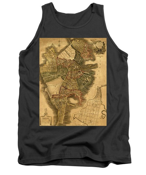 Map Of Boston 1814 Tank Top by Andrew Fare