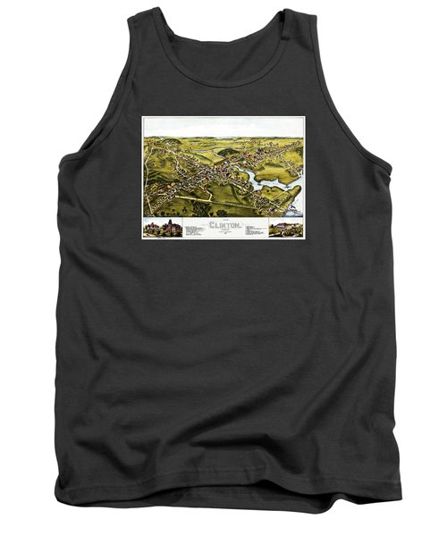 Map Of Clinton Connecticut 1881 Tank Top by Phil Cardamone