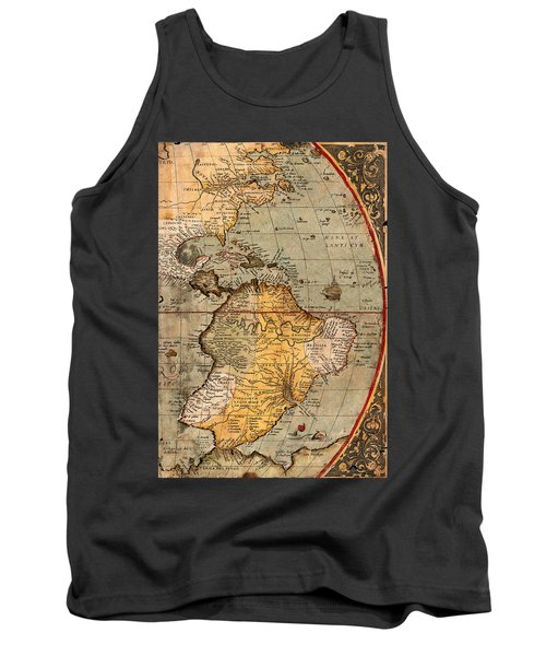 Map Of The Americas 1570 Tank Top by Andrew Fare