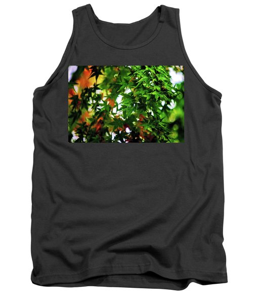 Maple In The Mist Tank Top by Mark Lucey