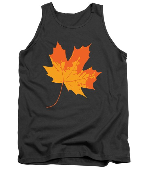 Tank Top featuring the digital art Maple Leaf by Jennifer Hotai