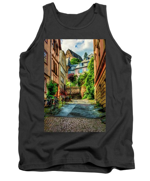 Tank Top featuring the photograph Marburg Alley by David Morefield