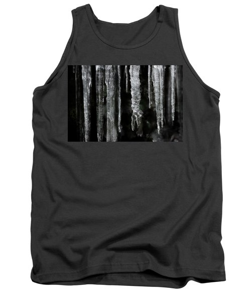 Tank Top featuring the photograph March Icicles by Mike Eingle
