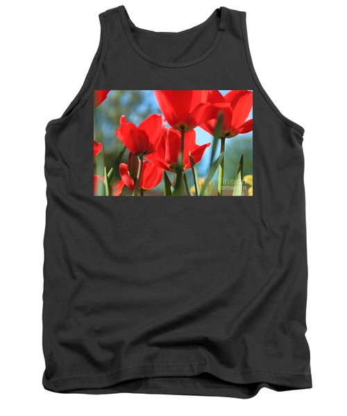 March Tulips Tank Top by Jeanette French