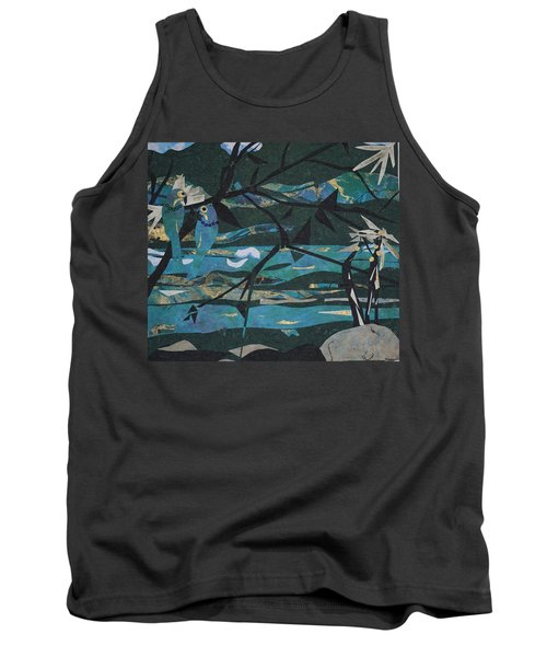 Mardi Gras Macaws Carnival Through A Birdseye View  Tank Top