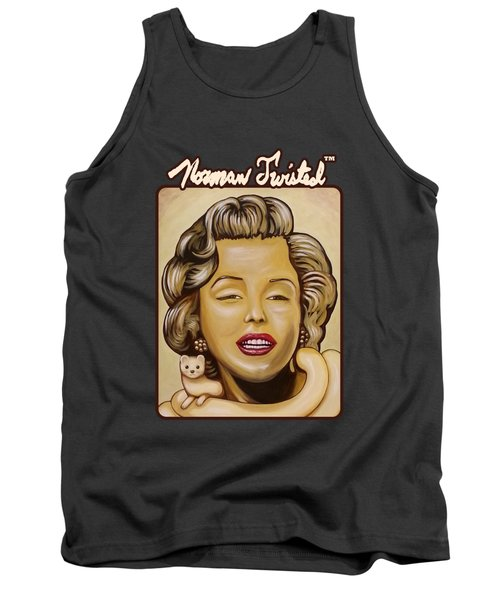 Marilyn In Gold Nt Tank Top by Norman Twisted