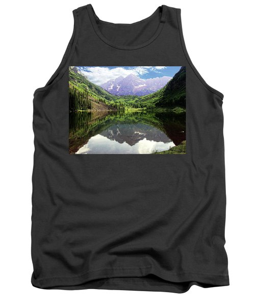 Tank Top featuring the photograph Maroon Bells  by Jerry Battle