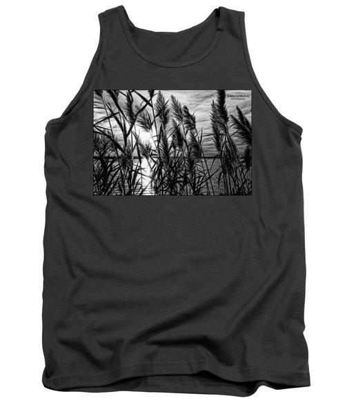 Marsh Grass Bw Tank Top