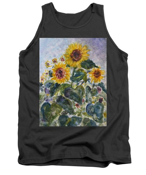 Martha's Sunflowers Tank Top