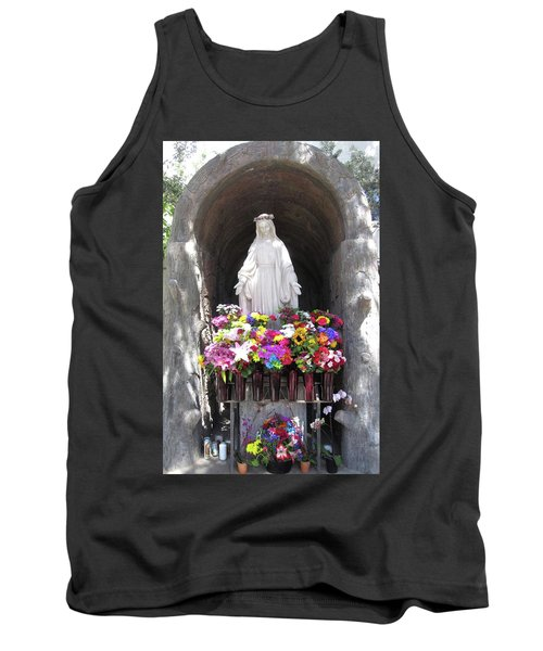 Mary At The Mission Tank Top by Mary Ellen Frazee
