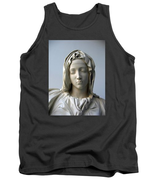 Tank Top featuring the sculpture Mary by Suhas Tavkar