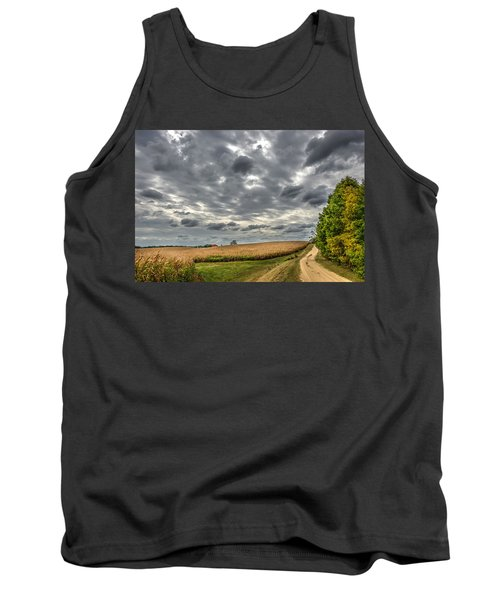 Maryland Country Road In Autumn At Twilight Tank Top