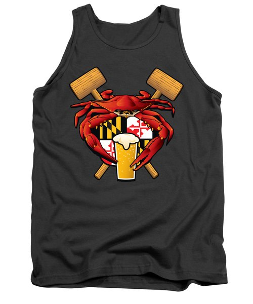 Maryland Crab Feast Crest Tank Top