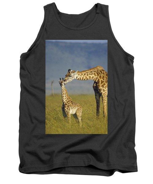 Masai Giraffe Mother And Young Kenya Tank Top