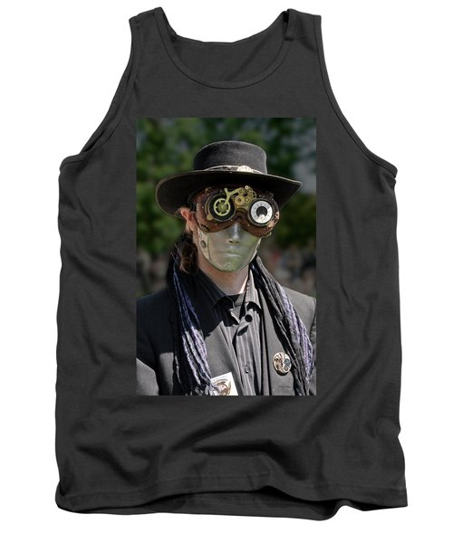 Masked Man - Steampunk Tank Top by Betty Denise