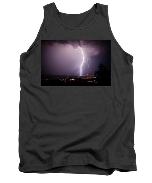 Tank Top featuring the photograph Massive Lightning Storm by Ron Chilston