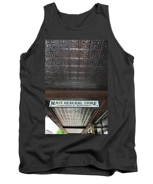 Tank Top featuring the photograph Mast General Store II by Skip Willits