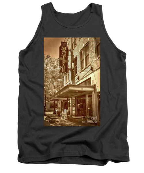 Tank Top featuring the photograph Mast General Store by Skip Willits