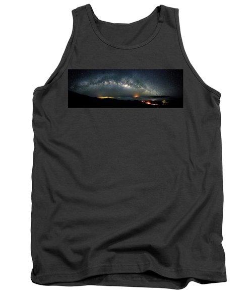 Mauna Kea Milky Way Panorama Tank Top