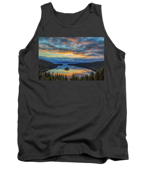 May Sunrise At Emerald Bay Tank Top by Marc Crumpler